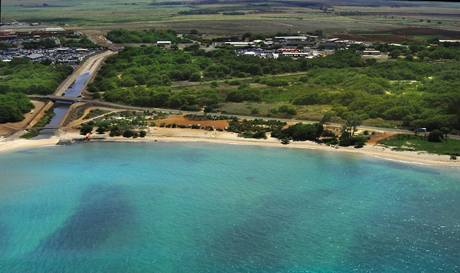Kite Beach, at Kanaha Beach Park, Maui, Hawaii. Aerial View from www.bluehawaiian.com